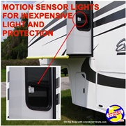 Motion sensor lights to improve your RV safety