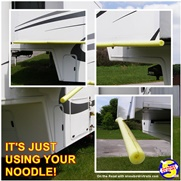 Using your noodle to pevent RV head bumps