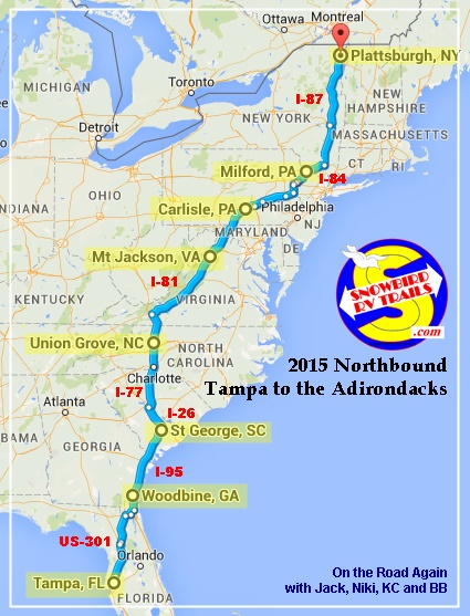 Popular Snowbird Rv Route Florida To The Northeast Amp Canada