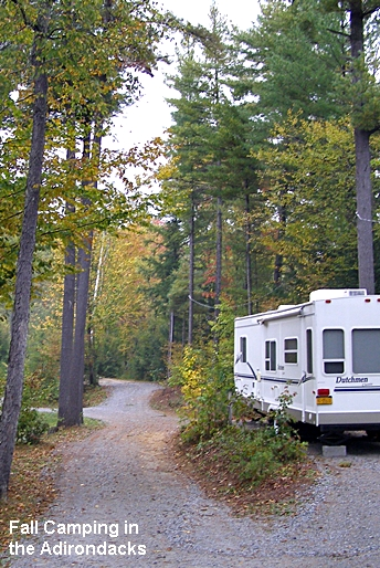 Fall camping in the Adirondack Mountains