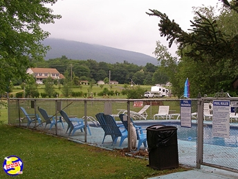 Swimming pool at Brookside Campground in The Catskills