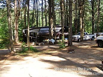 Under the Pines Medcalf Acres Riverfront Campground & RV Park, Schroon Lake, NY