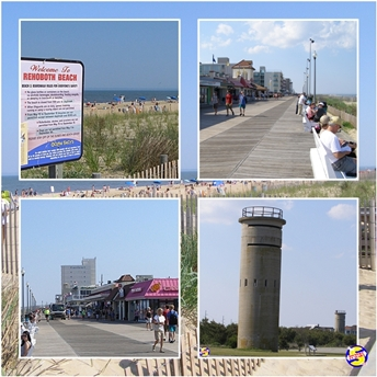 RV camping at Rehoboth Beach, Delaware