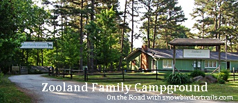 Zooland Family Campground entrance in sheboro, NC