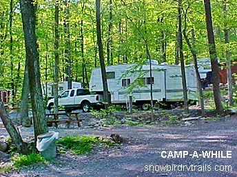 Camp Awhile Campground in Hegins, PA