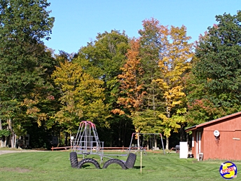 Kiddy playground at Susquehanna Trail Campground, Oneonta, NY