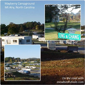 Mayberry Campground in Mt Airy, NC