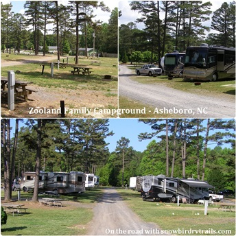 Zooland Family Campground in sheboro, NC