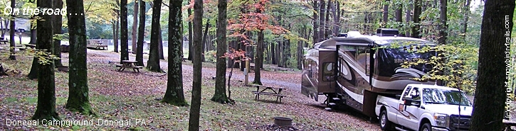 Fall Color in Donegal Campground, Donegal, PA