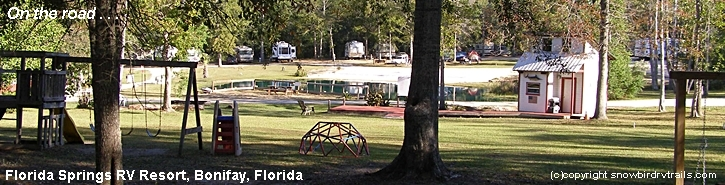 RVing On the Road in Bonifay, FL