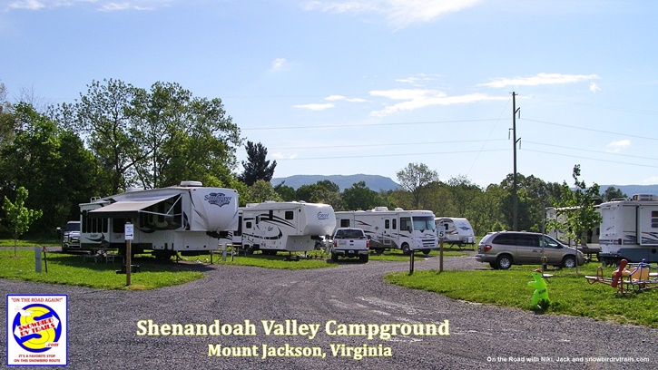 Snowbird RV stopover in Mount Jackson Virginia