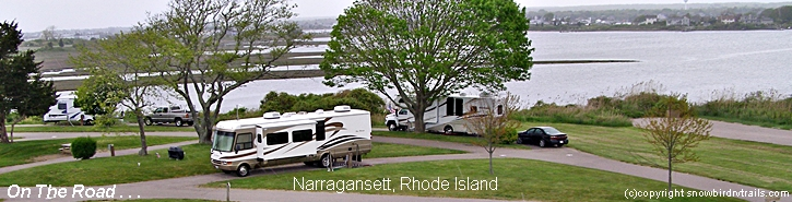RVing On the Road in Narragansett, RI