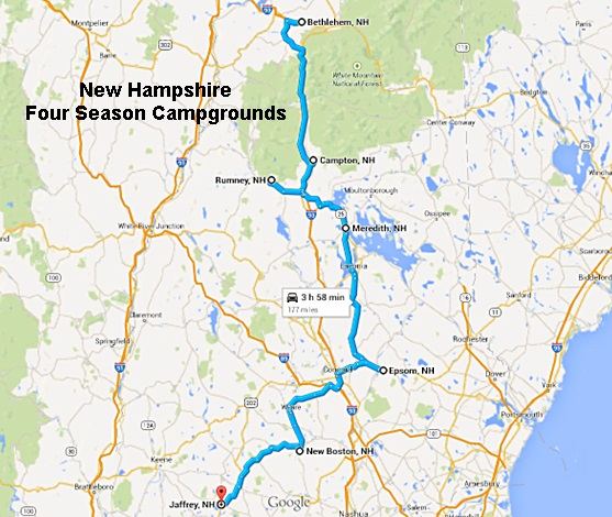 Off Season Campgrounds in New Hampshire