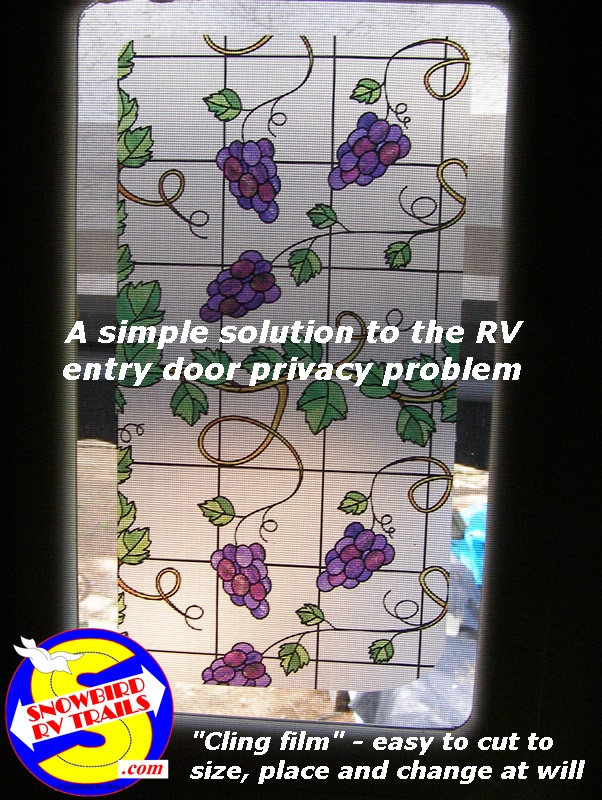 RV.Net Open Roads Forum: Entry Door Window, how do I get privacy at ...