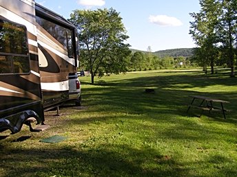 Susquehanna Trail Campground easy off/on I-88 in Oneonta, NY