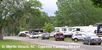 Cypress Camping Resort In Myrtle Beach Snowbird Rv Trail Tampa Florida To Upstate New York England